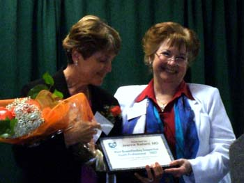 Receiving the Most Breastfeeding Supportive Health Professional award